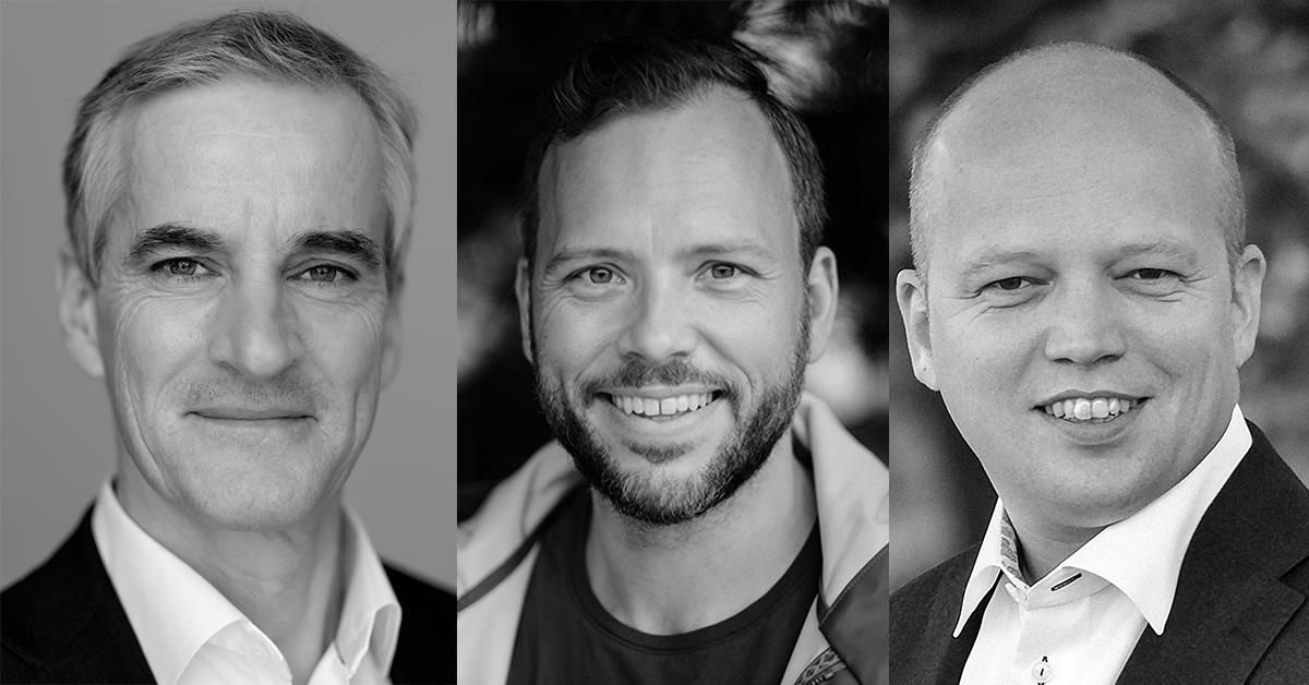 Støre, Lysbakken og Slagsvold Vedum kan danne ny regjering etter stortingsvalget. (Foto: Pressebilder)