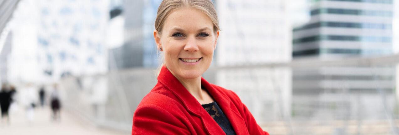 NY FORVALTER: Sunniva Bratt Slette forvalter fondet Fremtidens Byer. Foto: Karoline Næss, Storebrand.